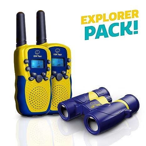"USA Walkie-Talkies y binoculares para niños - Kit Walkie Talkie ""Vox Box&quot"