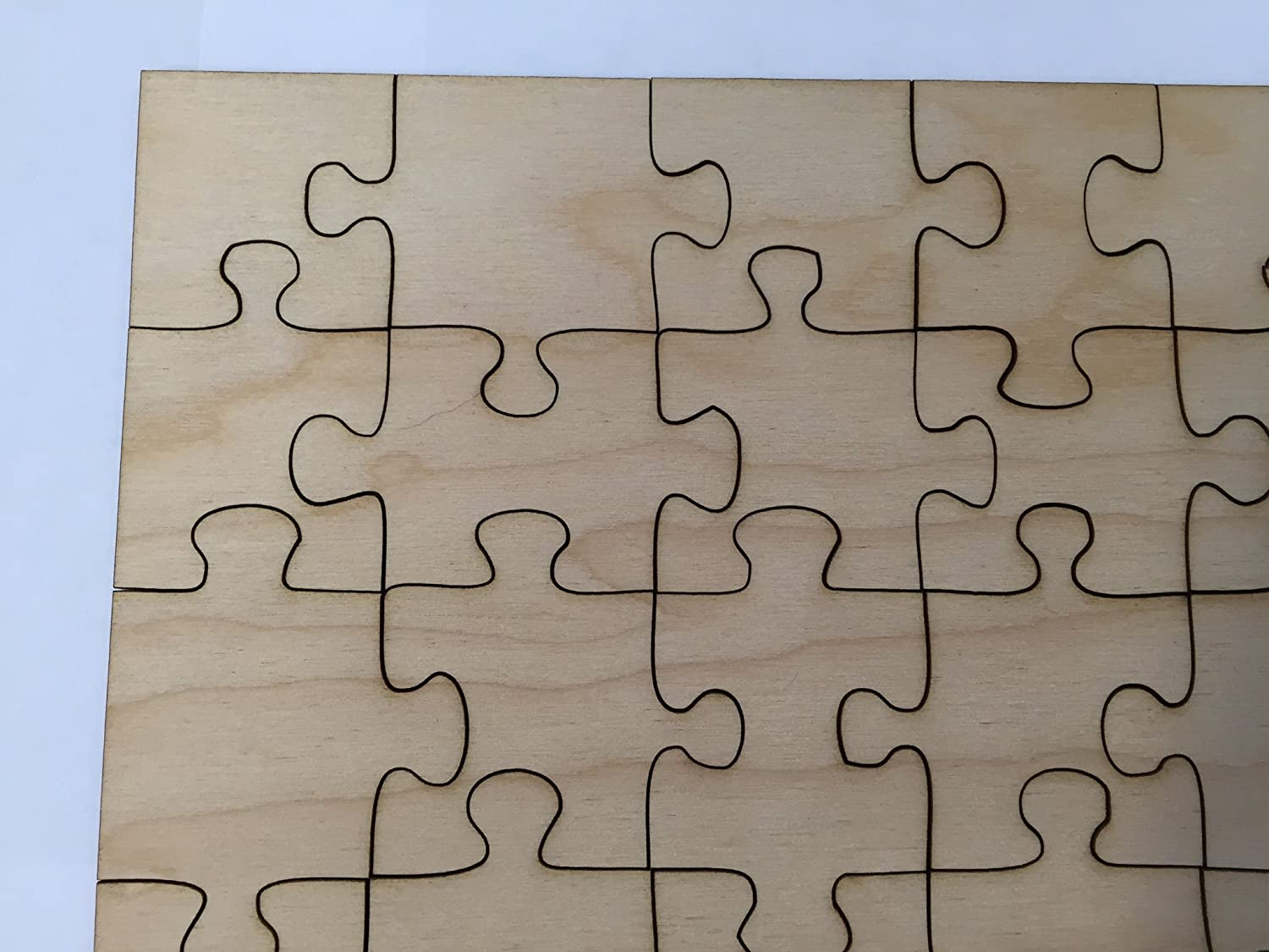 40cm X 100 Piece Blank Wooden Jigsaw Puzzle Amazoncouk Toys Games