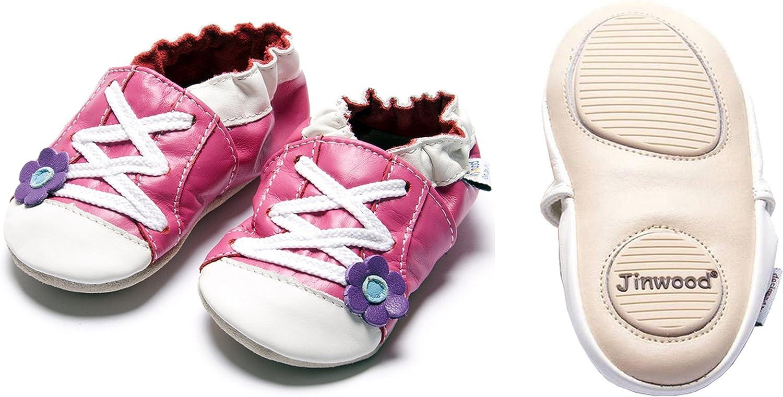 Krabbelschuhe Jinwood designed by amsomo 12 Verschiedene Modelle Soft Sole//Mini Shoes Div Groe/ßen 17//19-35//36 Lederpuschen Hausschuhe M/ädchen