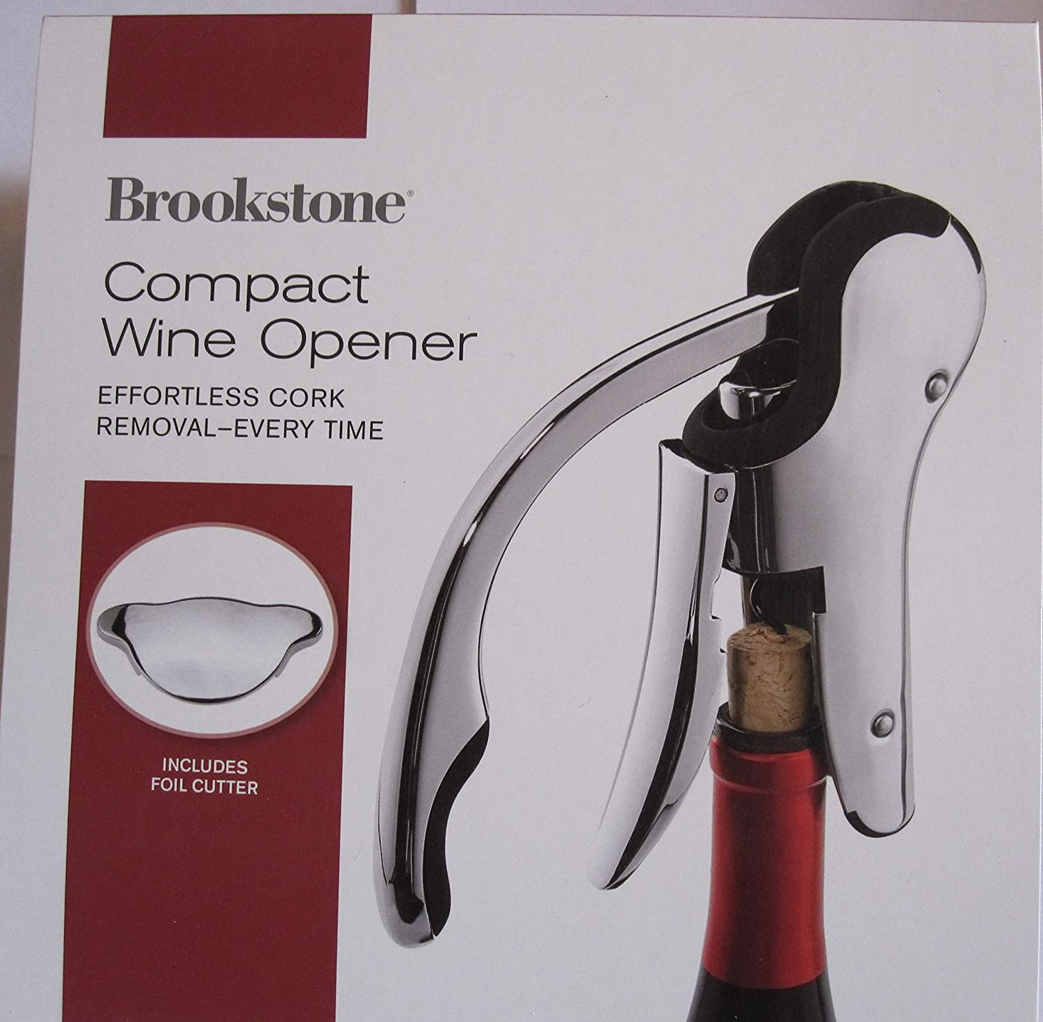 Brookstone Connoisseurs Compact Wine Opener COMINHKR021113