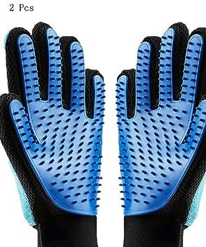 Guantes de aseo para mascotas, Taide 2 unidades de guantes 2 en 1, guante