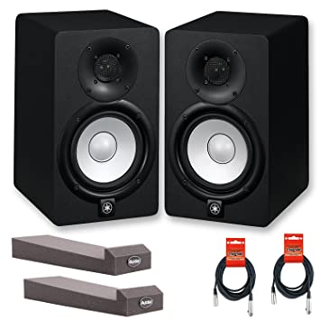 yamaha hs5 pair. Pair Of Yamaha HS5 70W Powered 2-way Studio Monitors W/ MoPads And Cables Hs5