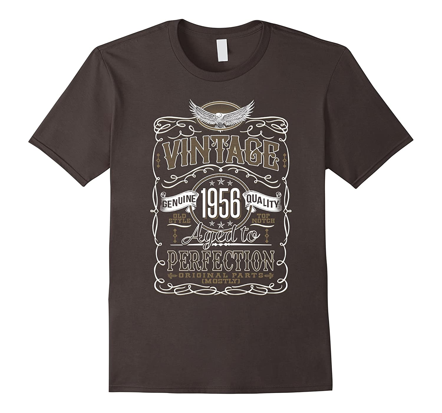 Vintage Birthday Gift Made In 1956 Years Perfection T-Shirt-TD