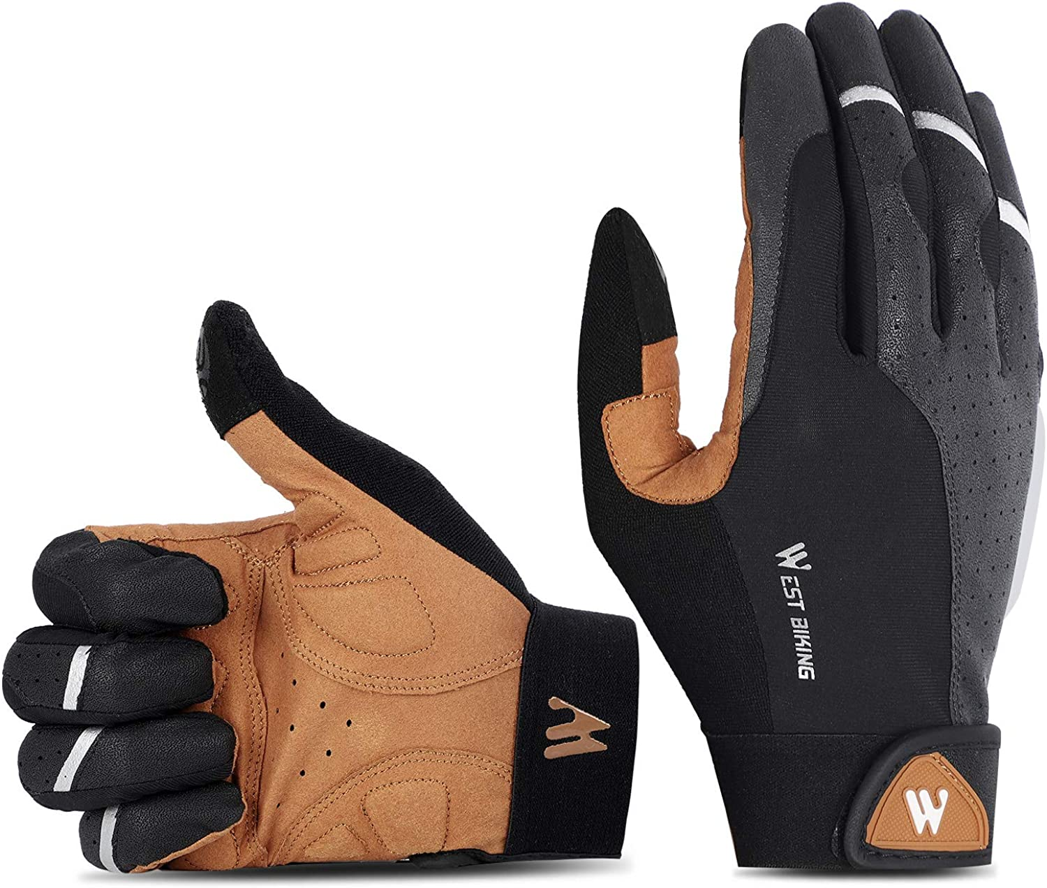 WEST BIKING MTB Cycling Motorcycle Anti-slip Breathable Outdoor Bicycle Gloves