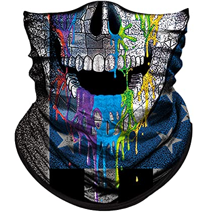 Apparel Accessories Outdoor Triangle Scarf Colorful Face Mask Graffiti Camouflage Skeleton Printing Motorcycle Cycling Bandana Neck Warmer
