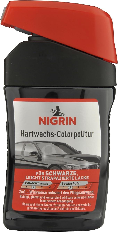 Nigrin 72944 Hartwachs Colorpolitur Schwarz 300 Ml Auto
