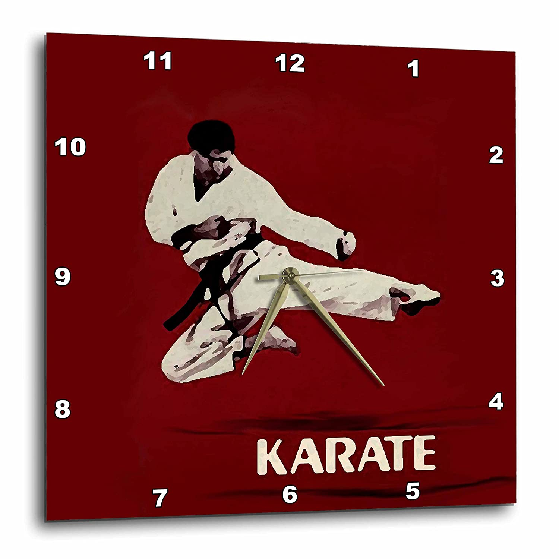 Karate dpp/_3149/_1 3dRose Karate 10x10 Wall Clock