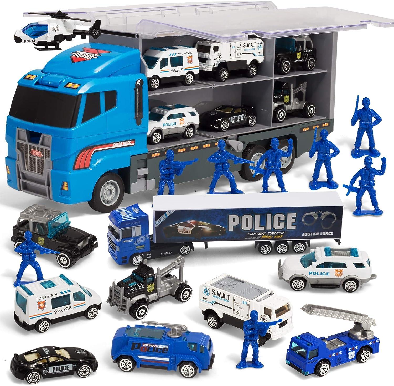 JOYIN 10 in 1 Mini Feuerwehrauto Rettungsfahrzeug Metall