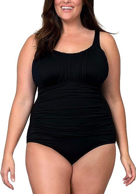 Amazon.com: Caribbean Sand - Bañador para mujer de talla ...