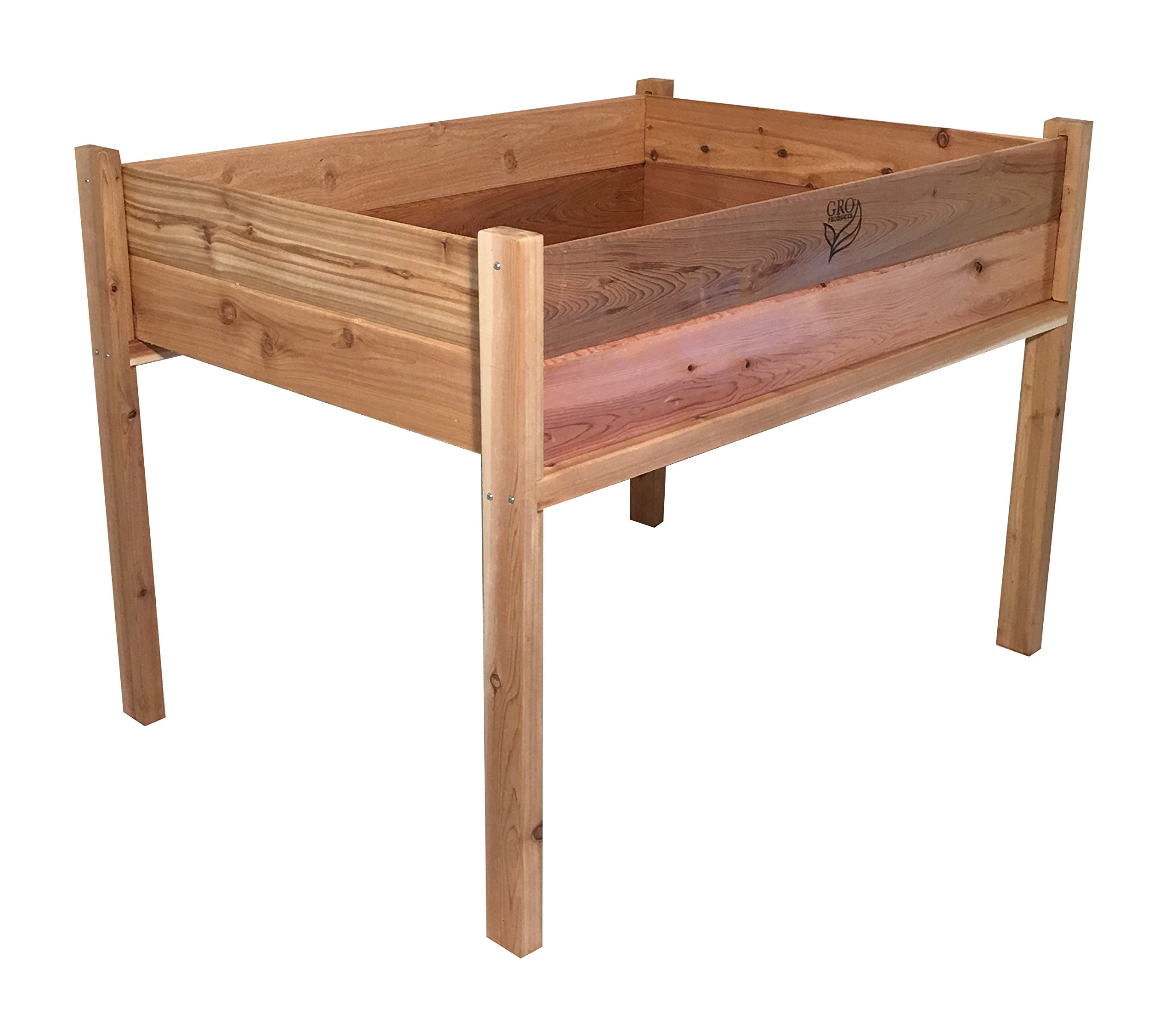GRO Products FP-EGB3-3648 Cedar Elevated Garden Bed Planter, 48 x 36 x 34 Inches by Gro