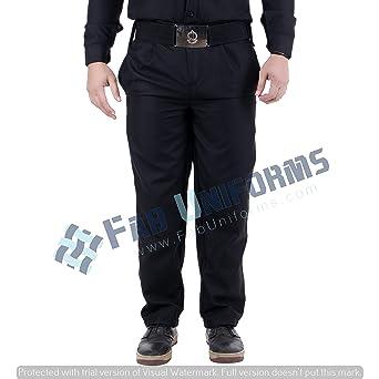 FAB UNIFORMS Security Guard Trouser (Black, 30)