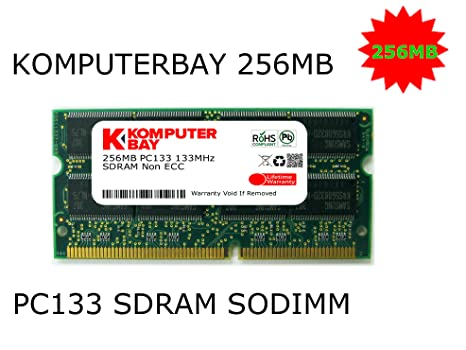 Komputerbay KB_256MB_PC133_SDRAM_SODIMM_16X8 - Módulo de Memoria 256MB para ordenador portátil, RAM 16Mx8x16 (Configuración de