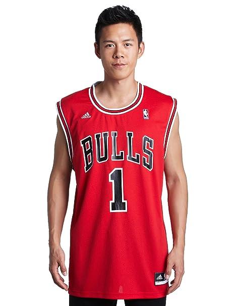 db40a154e Amazon.com   NBA Chicago Bulls Red Replica Jersey Derrick Rose  1 ...