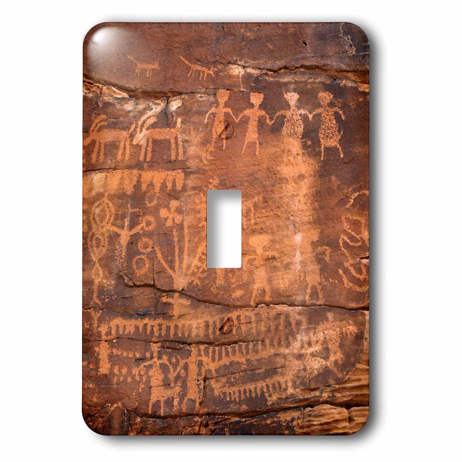 3dRose lsp_228184_1 USA, Southwest, Indian Petroglyphs on Sandstone. Single Toggle Switch