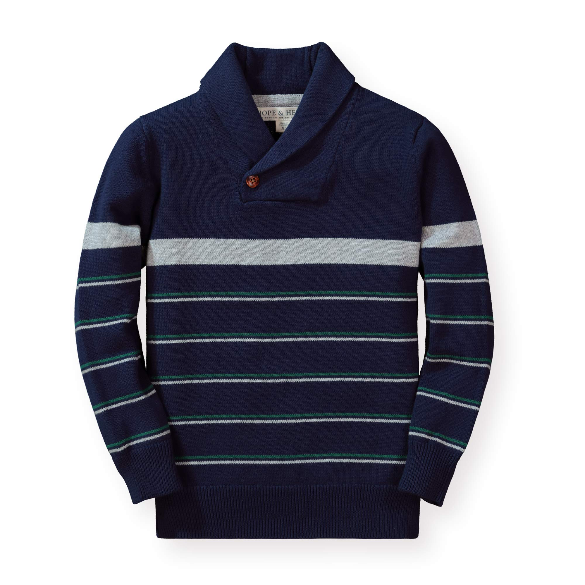 Hope & Henry Boys' Shawl Collar Sweater