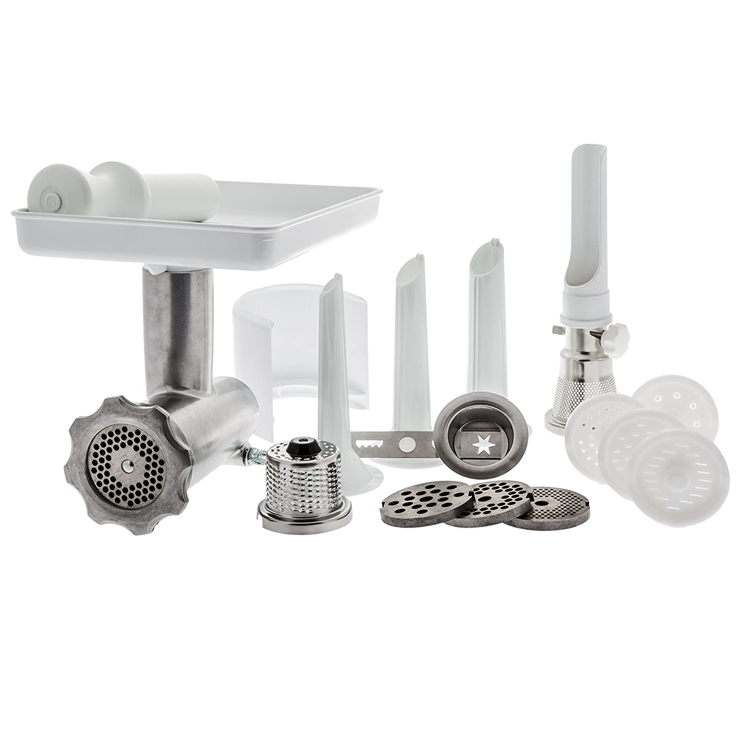 Ankarsrum Original White Complete Meat Grinder Attachment Set AKM6220-1401