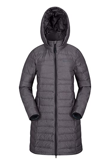 0908eef4d25d Mountain Warehouse Womens Nightingale Long Down Padded Jacket  Amazon.co.uk   Clothing