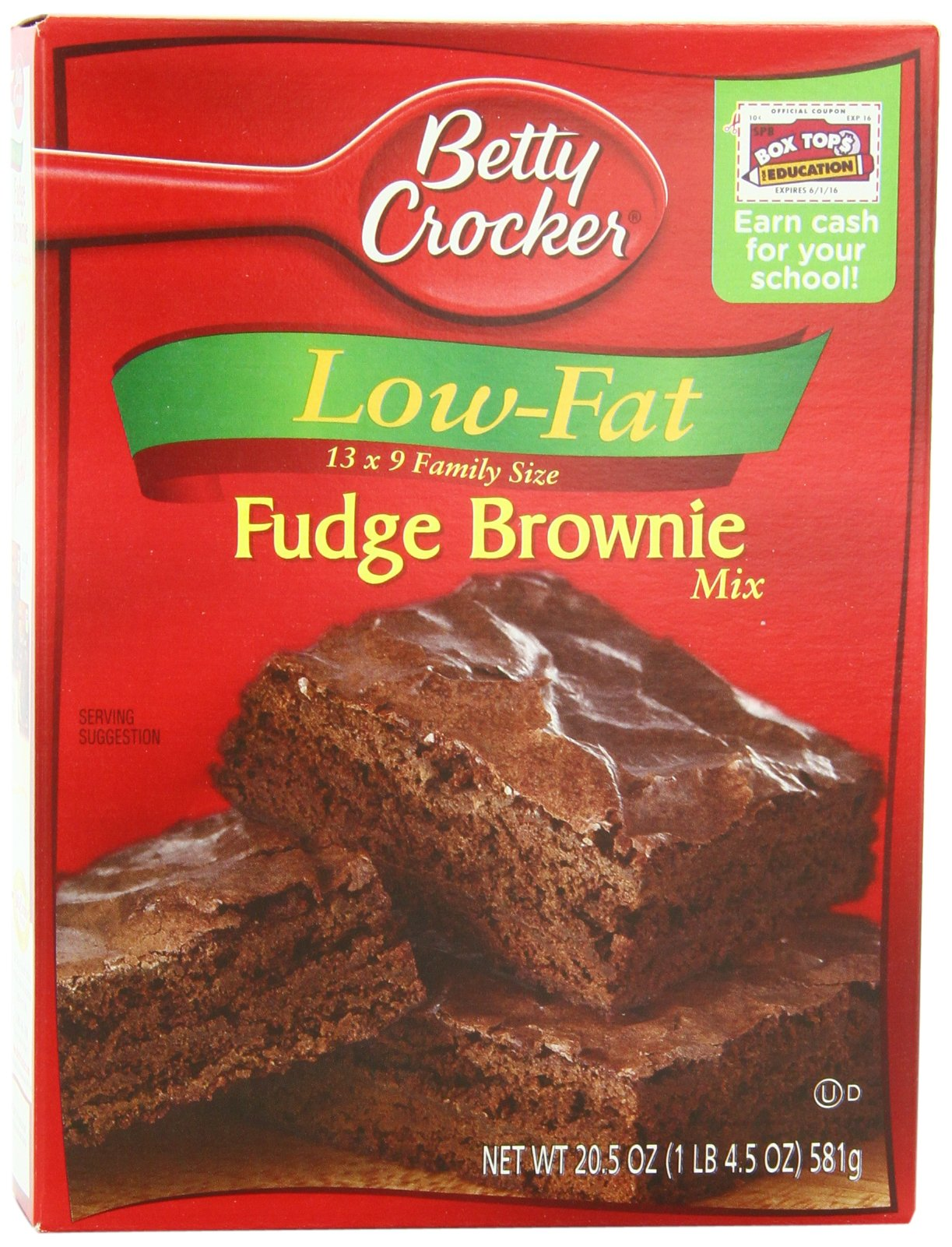 Betty Crocker Favorites Brownie Mix, Low-Fat Fudge, 20.5 oz Box (Pack of 12)