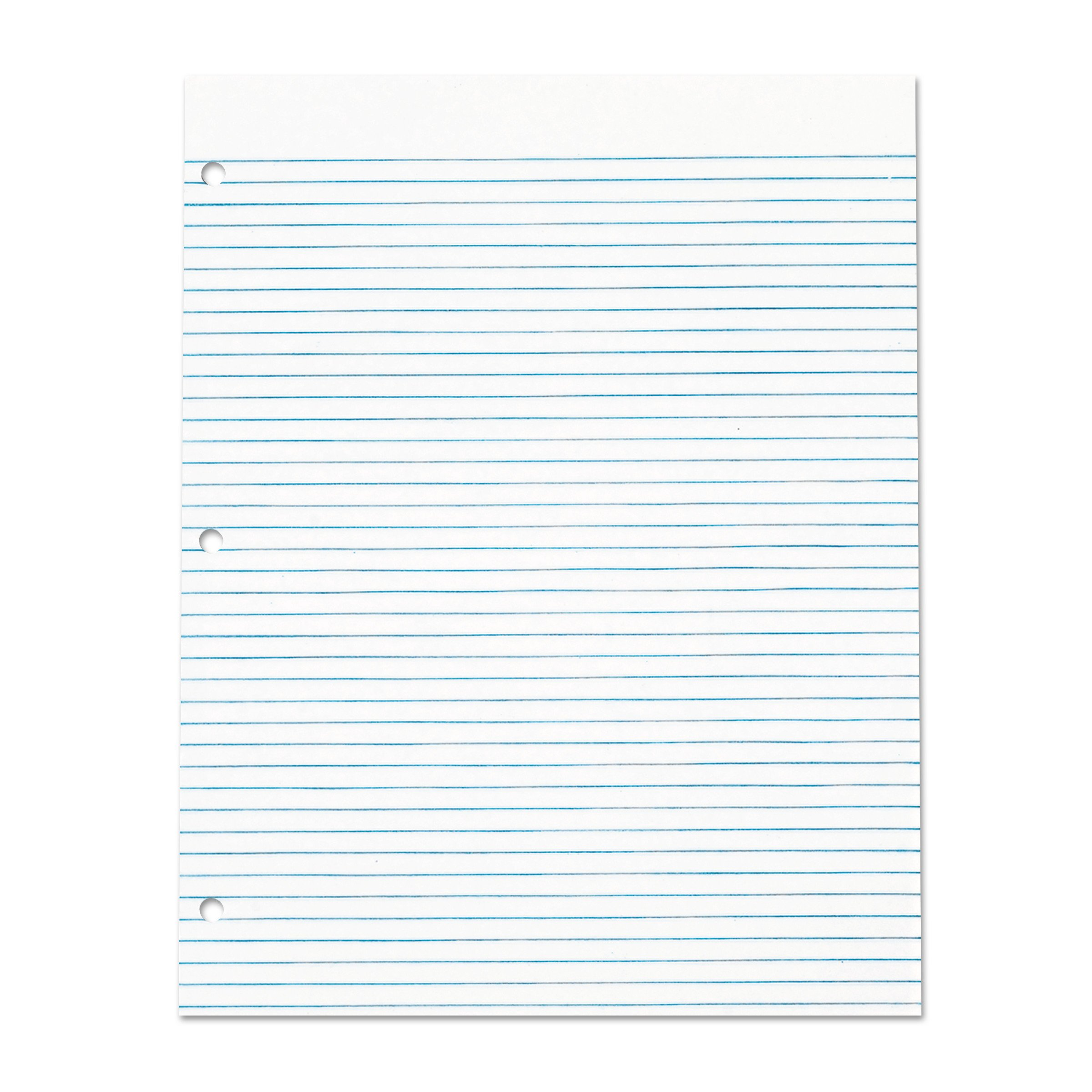 TOPS 7521 Three Hole Punched Pad, Narrow Rule, 8 1/2 x 11, White, 50 Sheets (Case of 12 Pads) by TOPS
