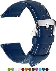 12 Colores para Correa de Reloj,FullmosaAxus Piel Correa Huawei Samsung Correa/Banda/Band/Pulsera/Strap de Recambio/Reemplazo 14mm 16mm 18mm 20mm 22mm 24mm