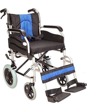 Deluxe plegable del peso ligero de tránsito de aluminio silla de ruedas