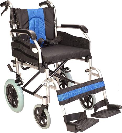 silla de ruedas plegable de aluminio elite