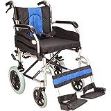 Lightweight folding deluxe aluminium transit wheelchair with handbrakes ECTR02-18