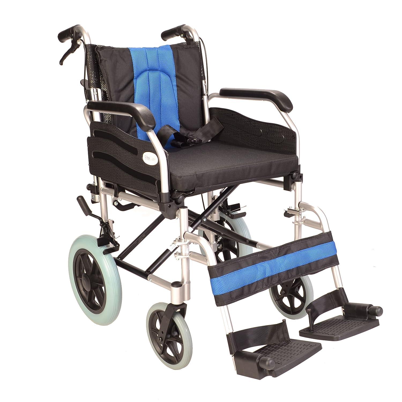 Deluxe sedia a rotelle pieghevole leggero in alluminio con freno a mano e sollevare i braccioli Amazon Salute e cura della persona