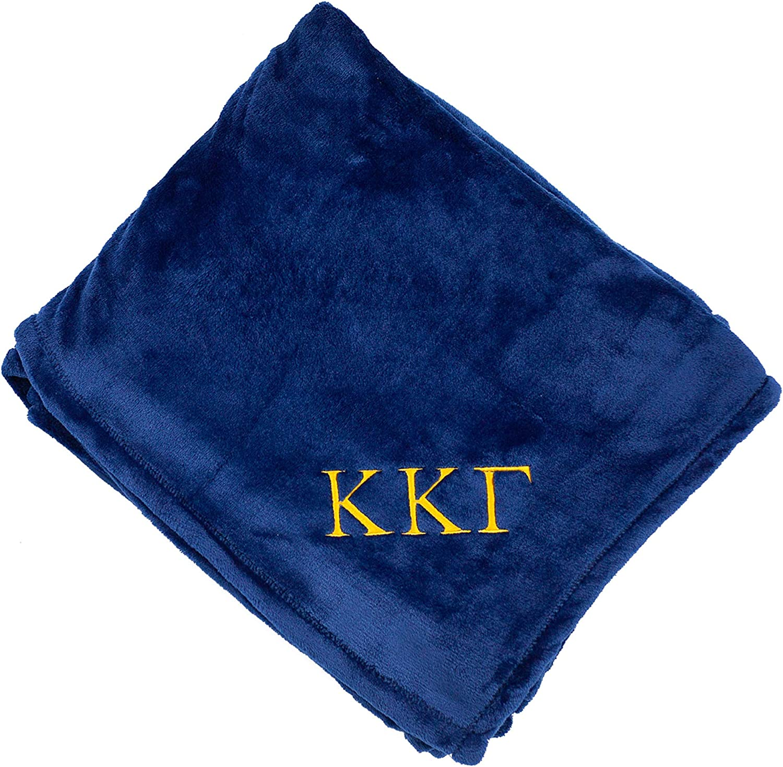 Embroidered Kappa Kappa Gamma Plush Throw Blanket