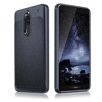 Huawei Mate 10 lite Carcasa, JIEXUN Azul Silicone soft funda ...