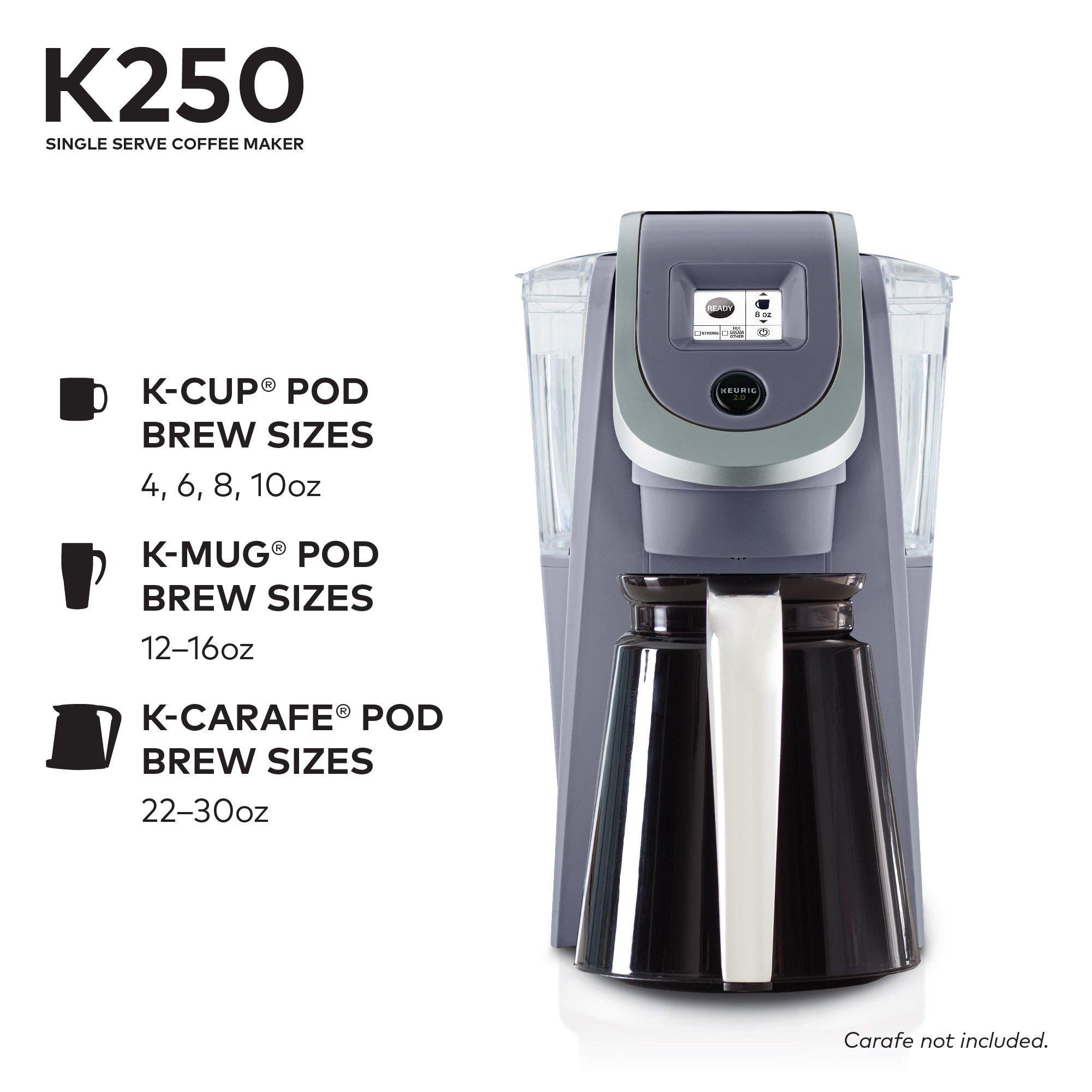 Keurig K250 Single Serve K-Cup Pod Coffee Maker with Strength Control Plum Grey Plum Grey by Keurig (Image #4)