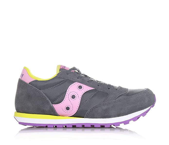 Saucony Jazz Original Kids - SC56448 Off White/Pink/Purple - (33, Off White/Pink/Purple)