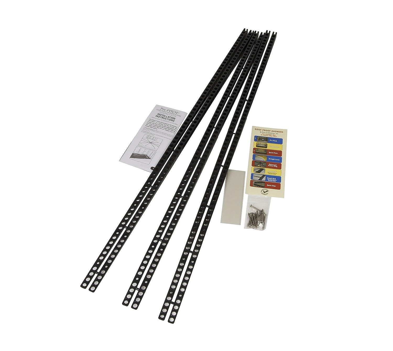 Pre-Pitch Standard Shower Installation Kit 1/8 to 7/8X36 - Part #: PPK/STD-201, Black Mark E Industries Inc ppkstd-201