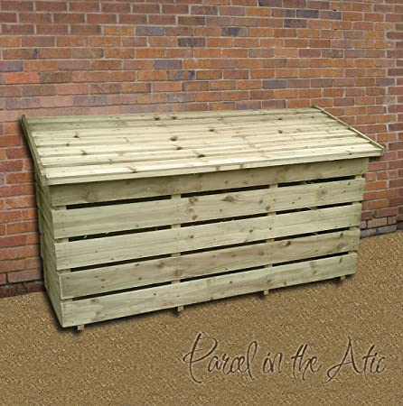 Beau Garden Log Storage In Heavy Duty Pressure Treated Wood (Log Chest)