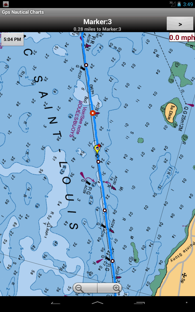 Marine Navigation - USA - Lake Depth Maps - Gps Nautical Charts for Fishing, Sailing and Boating ...