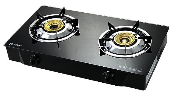 Phönix PS Hornillo de gas 2 2 focos de cristal de 8 kW LPG hobs Cocina