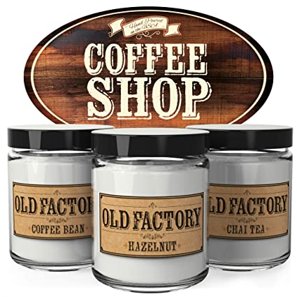 Amazoncom Old Factory Scented Candles Coffee Shop Decorative