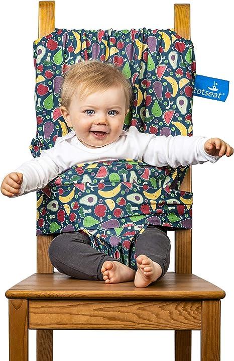 totseat La chaise haute de voyage primée portable originale, réglable, lavable, sûre et pratique pour les enfants de 6 à 30 mois