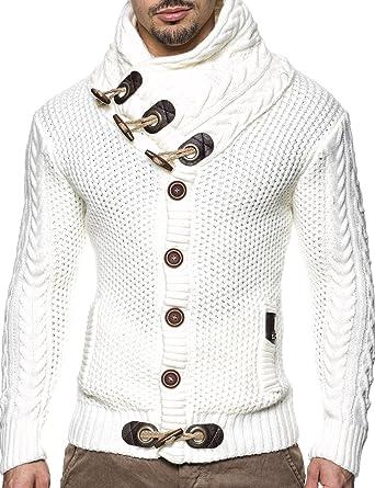 c7f2293f2eebd6 LEIF NELSON Herren Strickjacke Pullover Hoodie Jacke Sweatjacke Sweatshirt  Sweater Pulli Winterjacke Freizeitjacke LN4195; Größe