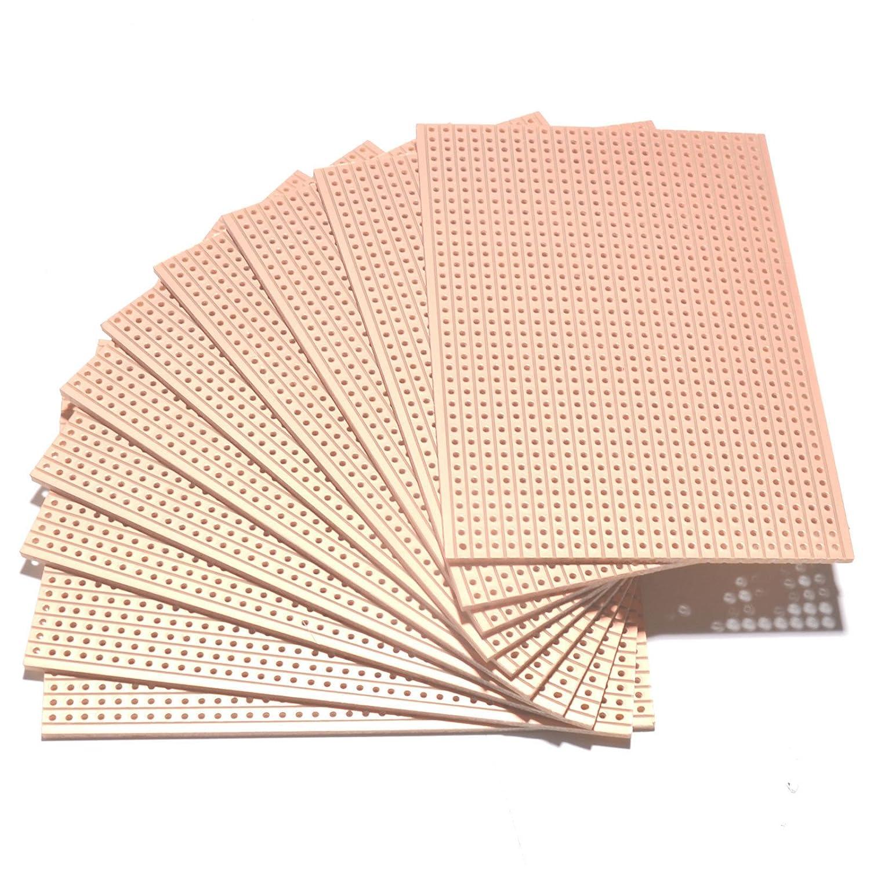 UTRONIX LIMITED 10 Pack VERO BOARD PROTOTYPING COPPER STRIP BOARD 64mm x 95mm