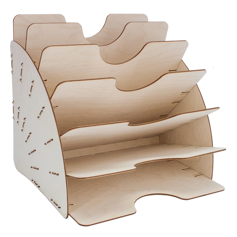 myORGA no.1 Dokumentenablage, Zeitschriftenablage und Ablagefächer für Schreibtisch und Büro aus Holz 001