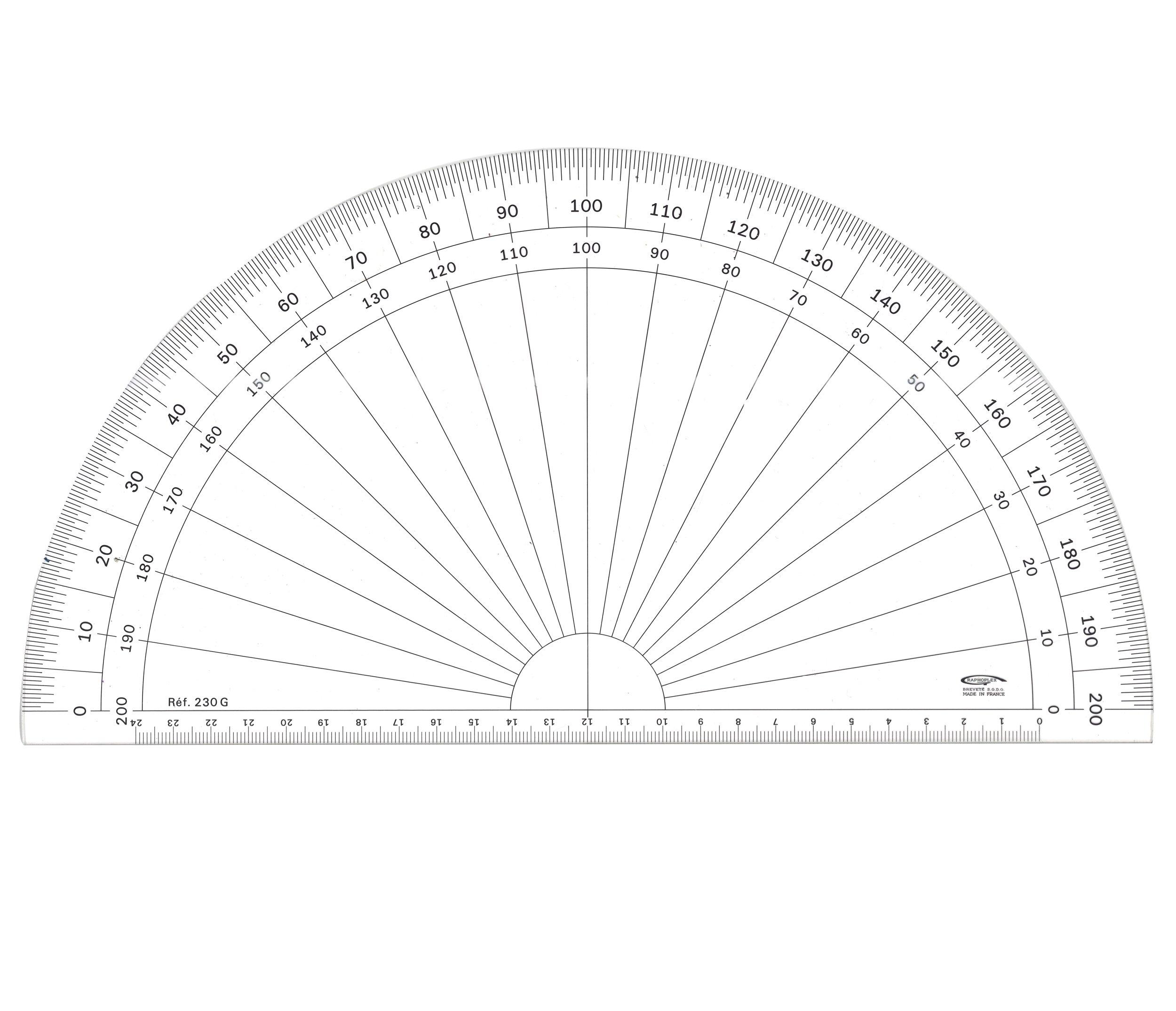 GX230G Grapholex-Protractor-Semi-Circle-Clear
