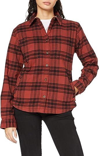 Carhartt Hamilton Plaid Flannel Shirt Jac Chaqueta de camisa para Mujer