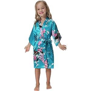 Aibrou 3/4 Albornoz Ninas Corto Kimono Batas Baño Kimonos,Camison mujer corto Lencería