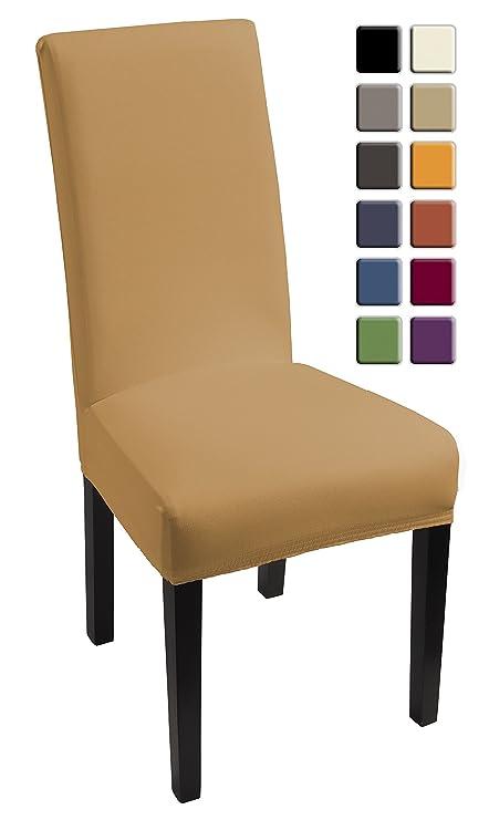 SCHEFFLER-HOME Lacoste Fundas de sillas 2 piezas, estirable Cubiertas de la sillas, Spandex Protecdor moderna slipcover, Cubierta de la silla de la ...