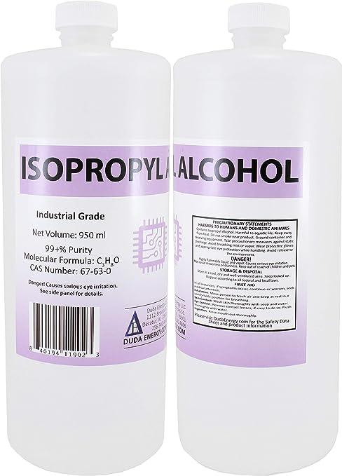 Amazon.com: 2 x 950ml Bottles of 99.8+% Pure Isopropyl Alcohol ...