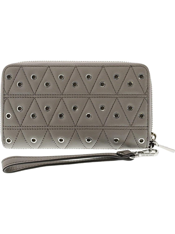 84c1bdb0cf07 Amazon.com: Michael Kors Grommets Leather Multi-functional Wallet - Grey -  32F7SFDE9O-081: Michael Kors: Shoes