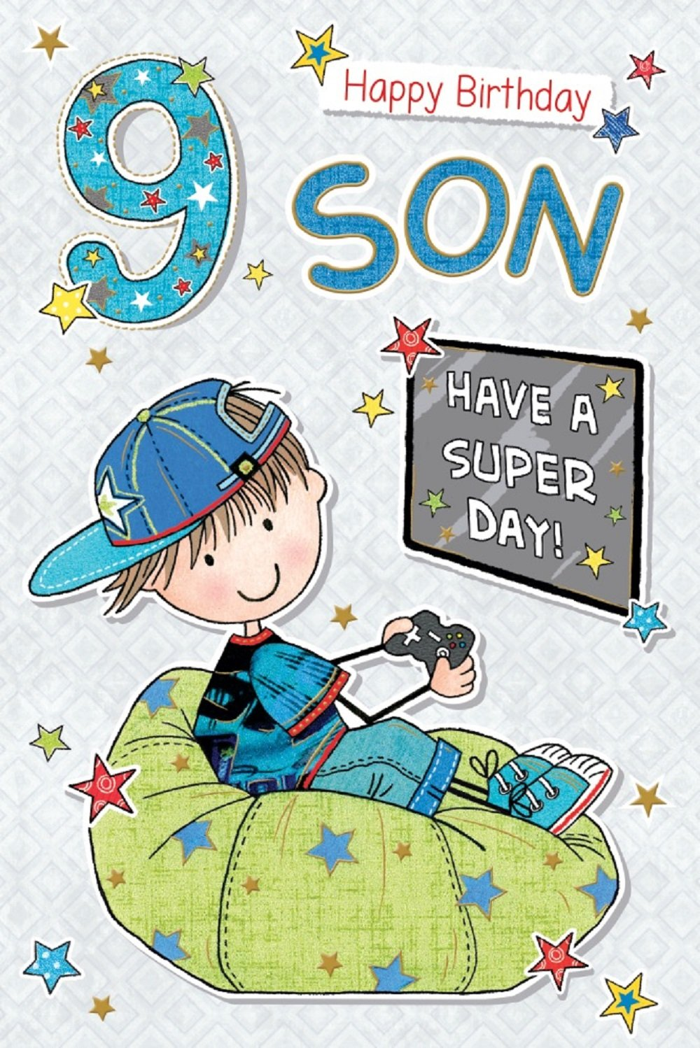 Marvelous Son 9Th Birthday Card Amazon Co Uk Office Products Personalised Birthday Cards Paralily Jamesorg