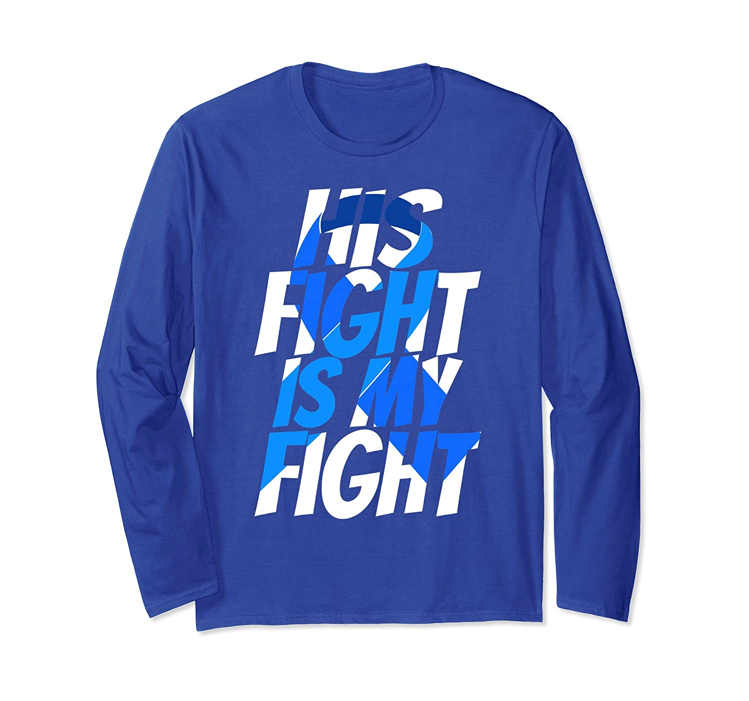 April Child Abuse month shirt Ribbon His fight's my Fight-ln