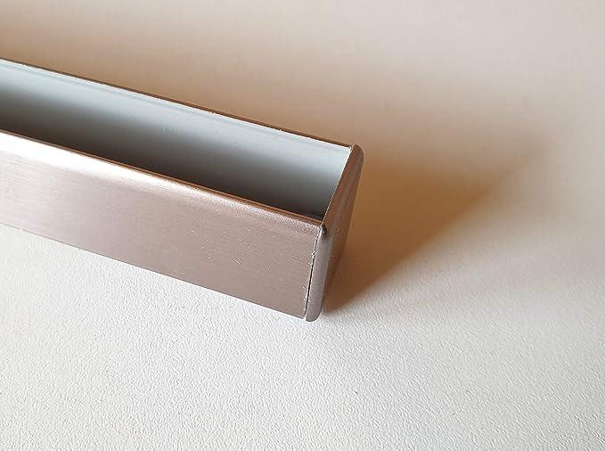 Endkappe Wangenschuh 25 mm Endstück Abschlusskappe Edelstahloptik Stollen Wange